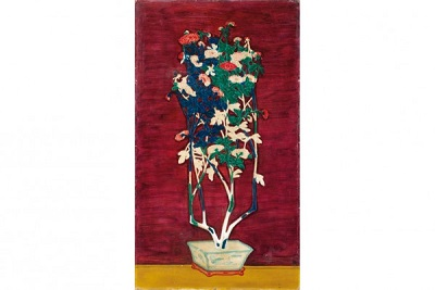 Sanyu's Potted Chrysanthemums